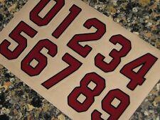 "ARIZONA CARDINALS ""Cardinal Red"" Football Helmet Numbers Decals #0-9 3M 20MIL"