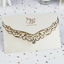 Card Wedding Invitation With Diamond Laser Cut Multi Color Party Supplies 50 Pcs