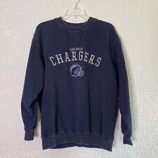 NFL San Diego Chargers Navy Men Blue Sweatshirt Size M