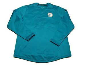 Nike Miami Dolphins On Field Sweatshirt Pullover Teal Blue Size XL NFL Football