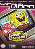 Game Boy Advance Video: SpongeBob SquarePants, Vol. 1 - Game Boy Advance Game