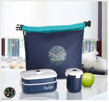Maui and Sons 1 Set Lunch Box Bento (Sac isotherme, boite déjeuner, tasse)