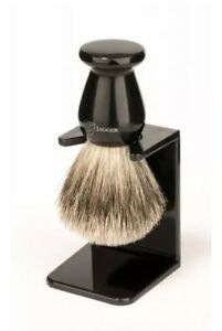 **Almost Gone** Jagger Imitation Ebony Best Badger Shaving Brush w/ Drip Stand