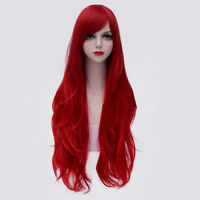 For Cosplay Jessica Rabbit 80CM Long Popular Wavy Red Hair Wig Halloween Party