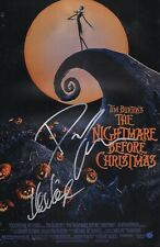 """NIGHTMARE BEFORE CHRISTMAS Cast(x2) Hand-Signed """"DANNY ELFMAN"""" 11x17 Photo"""