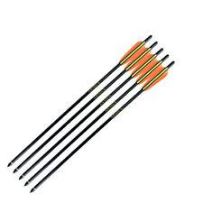 "26/""  Fibreglass Arrows Pack of 5 Armex Archery Steel Round Tip Trueflight Black"