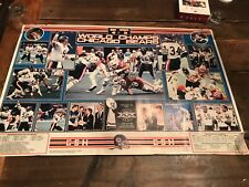 VINTAGE 1985 Super Bowl Champion Chicago Bears Signed Poster Hampton AUTOGRAPHED