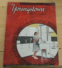 Youngstown Steel Sinks & Cabinet Advertising Brochure Catalog 1940 pre-WWII