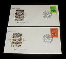 U.N.1982, New York #390-91, Conservation Of Nature, Singles On, Fdcs Nice! Lqqk!