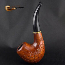 """HAND CARVED WOODEN TOBACCO SMOKING PIPE """" Network """"  PEAR"""