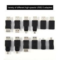12 Pz / Set Multiplo Adattatori USB 2.0 Connettori Convertitori Maschio-femmina