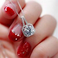 Women's Fashion CZ Crystal Charm Pendant Jewelry Chain Choker Necklace Gift