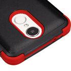 LG Harmony / V5 / K20 Plus / K20 V -Hybrid Shockproof Armor Phone Case Black Red