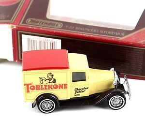 Matchbox Models Of Yesteryear Toblerone Y-22 1930 Model A Ford Van in Box
