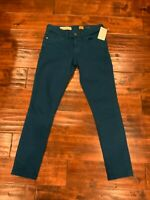 Pilcro and the letterpress Anthropologie Fit/Stet Dark Teal Skinny Jeans Size 25