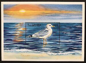 GAMBIA SEA BIRDS STAMPS S/S 1999 MNH CALIFORNIA GULL WILDLIFE MARINE LIFE OCEAN