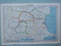 1943 Landkarte Bulgarien Plovdiv Sofia Burgas