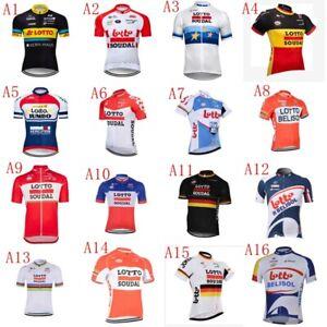 Team Cycling Jersey Men Short Sleeve Bike Vintage Gear Maillot Cyclisme A08