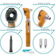 YNR Orange Mini Otoscope Pocket Fiber Optic Medical Diagnostic NHS GP CE Approve