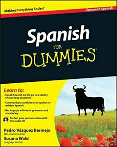 Spanish For Dummies (European Spanish) by Wald, Susana Paperback Book The Cheap