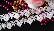 White color  flower lace trim/ribbon  - price for 1 yard