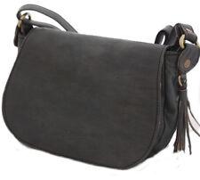 Sac sacoche bandoulière en cuir neuf de qualité léger et original gris