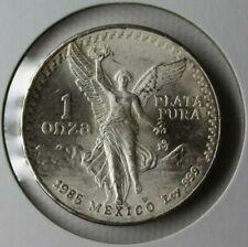 1985 Mexico Silver Libertad One Ounce 999 Fine Silver Coin BU