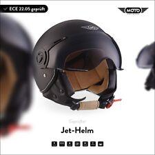 Casque Demi-Jet Vespa Scooter Quad Retro - MOTO Helmets H44 m. Black XS S M L XL