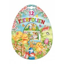 12 Eierfolien Schrumpffolien Decorfolien Eieraufkleber Osterspaß