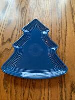 Fiestaware  Tree Plate Fiesta Lapis Blue Christmas Holiday Serving Platter