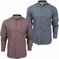 Mens Check Cotton Shirt by Tokyo Laundry 'Sicily' Long Sleeved