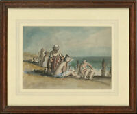 Harold Hope Read (1881-1959) - Framed Watercolour, Bathers on a Beach