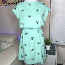 Pepaloves Tennis Racket Dress XS Anthropologie Mint Green Racquet
