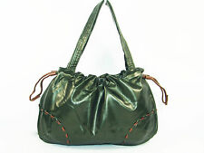 NEW!! GREEN with COPPER Trim FAUX LEATHER Hobo,Tote, Satchel, or Shoulder Bag