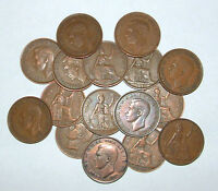 Great Britain/UK 1937 - 1952 - George VI Bronze Pennies - Select the Date
