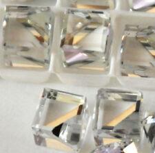 SWAROVSKI ® - 5 Pz  Cubo 4841-10 mm. Clear Crystal Comet Argent Light VZ Unfoile