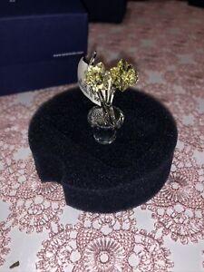 NEW Swarovski Crystal YELLOW TULIP FLOWER Swan Logo LG Faceted Bud SCS 2004 BOX