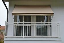 Angerer Klemmmarkise Balkonmarkise Balkon Markise taupe 250cm breit