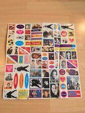 JUST SEVENTEEN J17 Sheet of 1990s Movie Film Pop Music Star Stickers Teen