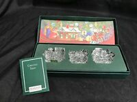 "Waterford Marquis Crystal ""THE CHRISTMAS TRAIN"" - 3 Piece Set w/Original Box"