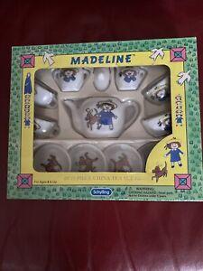 New Madeline 13 Piece China Tea Set Schylling 1997 Dog  Vintage