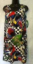 Jams World Hawaiian Rayon Dress Size 7 Medium Fast Car Racing