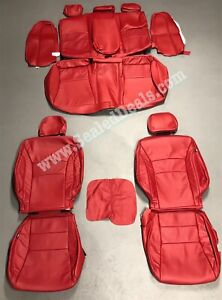 2013 2014 2015 2016 2017 Honda Accord LX Red Leather Seat Factory Style Covers