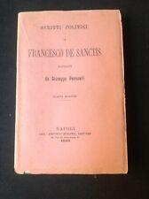 SCRITTI POLITICI DI FRANCESCO DE SANCTIS - raccolti da G.FERRERELLI -NAPOLI 1895