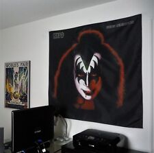 KISS Gene Simmons HUGE 4X4 BANNER poster tapestry cd album wall decor rock band