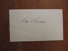 LOU  BRISSIE (Died in 2013) Signed 1948 One Cent Government Postcard