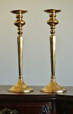 Paar Alte Große Kerzenleuchter Kerzenständer Leuchter Candlesticks Messing