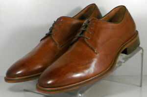 150432 SP50 Men's Shoes Size 9 M Dark Tan Leather Lace Up Johnston & Murphy