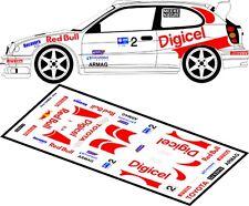 DECALS 1/43 TOYOTA COROLLA WRC - #2 - MEEKE - RALLYE BARBADOS 2008 - D43107