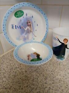 Frozen PP Tableware Set - Plate Bowl Tumbler Microwave Safe - Anna Elsa Olaf...